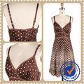 Colorblock del diseño del punto mujeres Causal vestido de noche caliente precio de la alta calidad