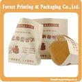cuadrado inferior bolsa de reciclado de pepsi marrón bolsa de papel para el paquete de alimentos