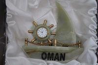 Marble Onyx Ship Clock