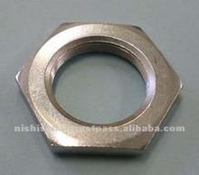 Steel thin hex nut for sensor equipment oart