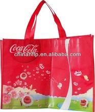 Folded high quality reusable non-woven bag