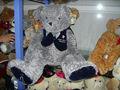 precioso 30cm adaptansuave de peluche de felpa oso de peluche de juguete con el azul de la ropa sin mangas