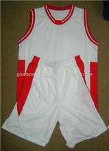 White Color Unisex Breathable Basketball Set