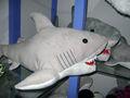 60 cm precioso personalizada suave tiburón de peluche de felpa juguete del animal de mar con blanco dientes en la boca