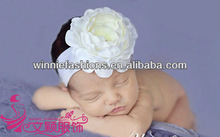 New Fashion Baby Headband Made In Chiffon With flower In Centre/feather headbands for babies