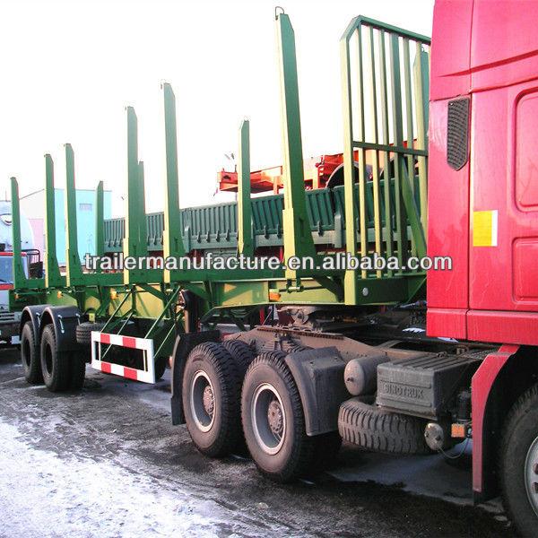 2axles Bogie Suspension Timber Transport Semi Trailer