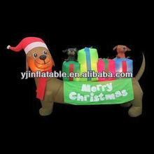 6' lighted christmas inflatable dachshund inflatable merry christmas
