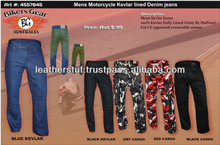 Mens Motorcycle Kevlar lined Denim jeans