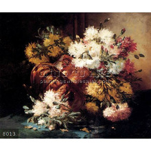 Hand painted Classic Still Life oil painting pictures of flowers, Floral Still Life Of Spring And Autumn