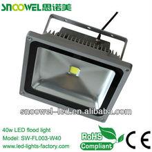 High Brightness 40W LED flood parking lot light CE/RoHS approved