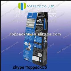 Dog treats bags/High quality printing healthy standing dog food bag