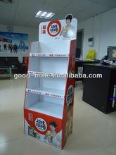 Supermarket Cardboard Display Brown Rice Rolls Retail