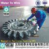 Anti-erosion C0-Cr-WC coated pelton water wheel for turbina de agua & turbine generator made in china from shenyang getai