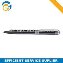 Hot!2 Color Black Barrel Sliver Clip Twist Metal Ball Pen