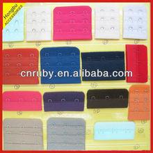 Nylon or polyester bra hook and eye tape
