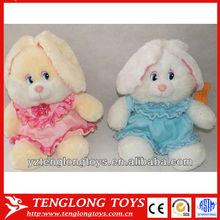 China wholesale stuffed plush toy plush rabbit toy wearing dress