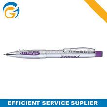 2013 Hot!2 Color Purple Barrel Twist Metal Ball Pen