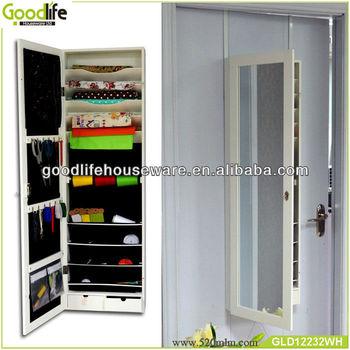 house design wooden storage display mirror cabinet