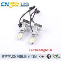 Factory experience high power auto led light H7 socket bulbs12v 24v COB best chip