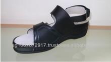 Black Color Women's Designed Leather Sandal