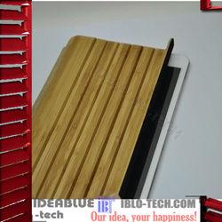 Sleep-wake up functionally wooden bamboo smart cover for ipad mini