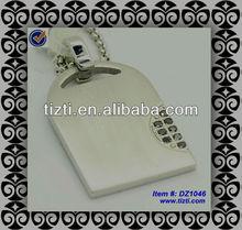 stylish plane black CZ titanium pendants