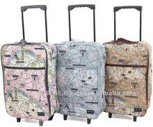 Original print design folding shopping bags with wheels