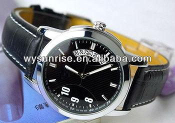 wholesale cheap men leather strap watches