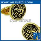 custom made metal gold dragon with logo