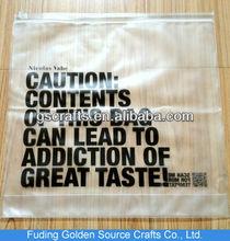 frosted plastic pvc vinyl packing zipper bag