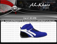 Color Combination Velcro Closure Kart Racing Sports Shoes for Men