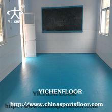 Fire retardant pvc vinyl flooring for classroom