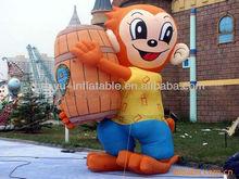inflatable monkey, customized inflatable cartoon