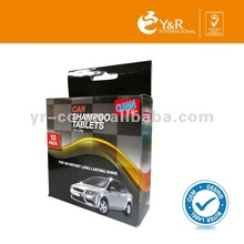 Hot Sale!!2013 best quality car shampoo concentrate tablet,car wash shampoo tablet