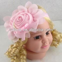 Infant pink Cute flower headband