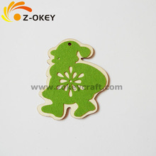 new fashional &design wooden decoration for holiday decoration wooden hanging