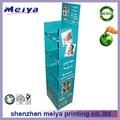 Personalizado dobrável pop exposição de papel prateleira de loja de móveis de papelão no celular, pallet de exibição standee