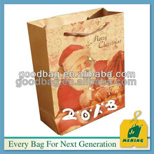 Cute Paper Carrier Bag/paper packaging bag/Christmas paper bag for Christmas day,MJ-0339-K,guangzhou