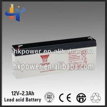 Lead acid Yuasa 12v2.3ah Sealed rechargeable battery