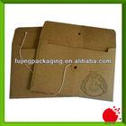 Kraft board envelope with string