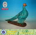 Hermosa cerámica pavo real decorativo estatuilla