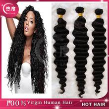 AAAAA brazilian deep wave hair extension weave brazilian virgin hair