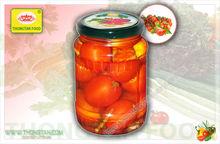 Pickled tomato in jar / Pickled big tomato / Tomato vinegar