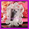 White Baroque Elegant Place Card Holder and Wedding Photo Frame