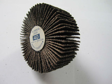 Excellent Grinding! Abrasive Flap Wheel with Aluminum Oxide. Model: 40Grit, 63x25x6mm(2 1/2x1x1/4inch), R145Wheel