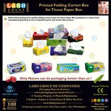 Printed Folding Carton Box for Tissue Paper Box