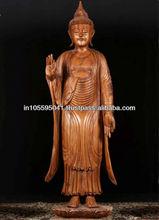 Standing Buddha Wooden Sculpture