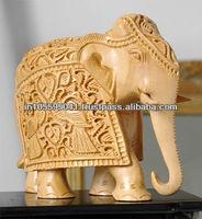 Elephant Wooden Sculpture