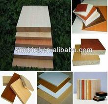 E1,E2 solid/wood grain Melamined Laminated/veneered MDF for furniture