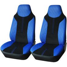 Car Vehicle Front Seat Cover Set - Universal Fit,Black & Blue Color,Interior Decoration